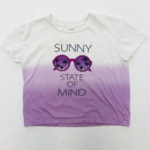 5/$25 Gymboree girl ombré Sunny graphic tee M 7 8
